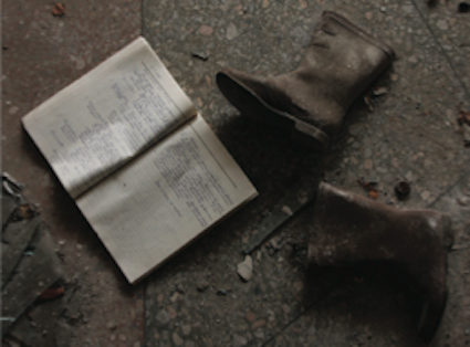 Items left behind in Pripyat following the Chernobyl accident and evacuation