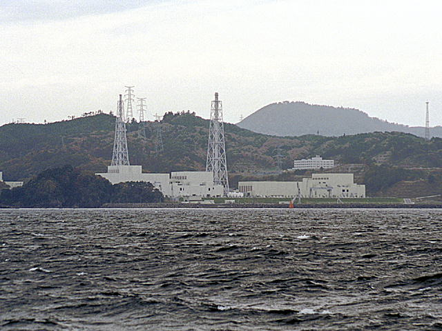 Photo: Onagawa Nuclear Power Plan taken by Nekosuki600(talk / Contributions) in November 16th 2003 and uploaded by Nekosuki600(talk / Contributions) to Japanese Wikipedia in September 25th 2005  CC BY-SA 3.0