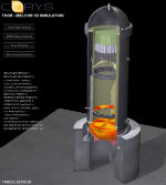 Melcor graphic showing partial core melt in a boiling water reactor (Source: Corys)