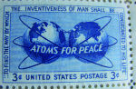 American stamp issued to commemorate Atoms for Peace