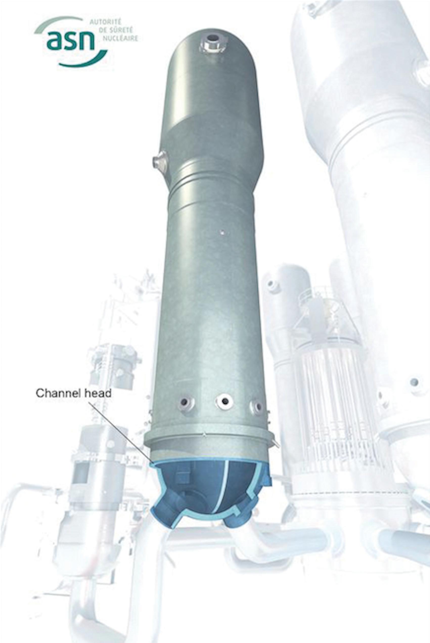 Steam generator channel head Source ASN Image Nuclear