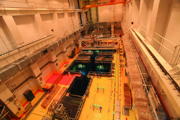 Birds eye view of the spent fuel pool at Kuosheng 1 (Photo: Taipower)