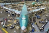 Boeing completes the assembly of the first 747-8 freighter in 2009