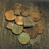 Copper coins from the warship Vasa.