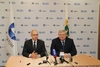 Head of Rosatom Sergey Kirienko (left) and new regional governor Sergey Zhvachkin